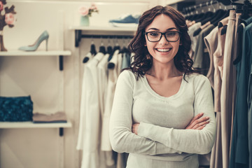 Attractive shop assistant