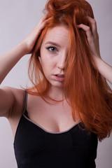 Busty redhead pics 1