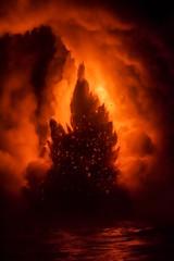 Explosing lava in Hawaii