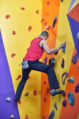 Man Climbing Up