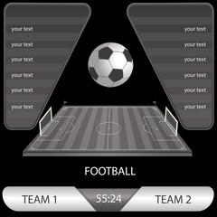 vector illustration of football match