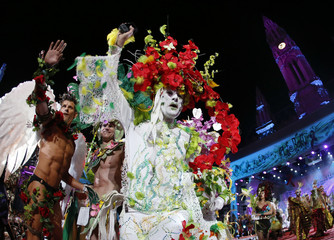 Artists perform on stage during the opening ceremony of the 22nd Life Ball in Vienna