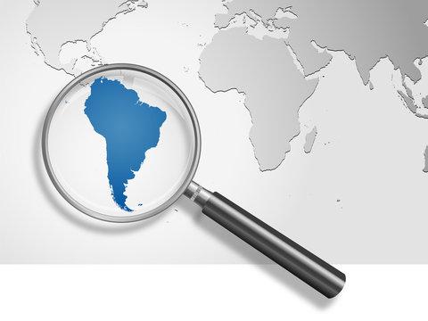 Landkarte *** Südamerika