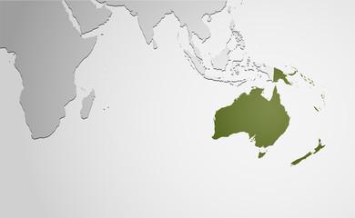 Landkarte *** Ozeanien