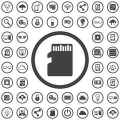 SD chip card icon