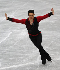 Fernandez of Spain performs during the men's short programme at the ISU Grand Prix of Figure Skating's NHK Trophy event in Sendai