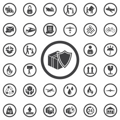 Privacy Delivery, purchase protection icon