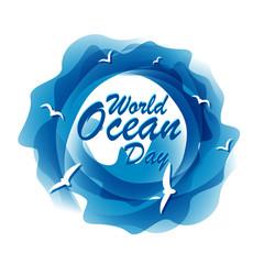 World ocean day.