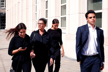 "Hana Alexander, wife of Jacob ""Kobi"" Alexander departs Brooklyn federal court after a hearing in New York"