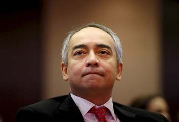 File picture shows Malaysia's CIMB Chairman Nazir reacting at the launch of a report in Kuala Lumpur