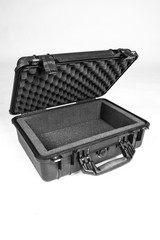 Black carrying case for equipment.