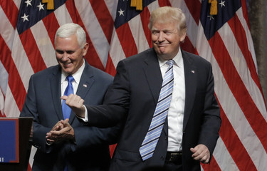 Republican U.S. presidential candidate Trump introduces Indiana Governor Pence as his vice presidential running mate in New York