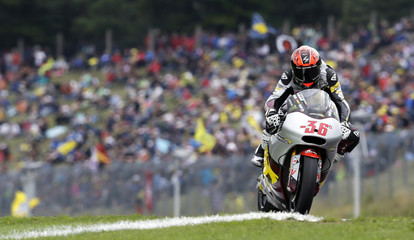 Kalex Moto2 rider Mika Kallio of Finland competes during the Czech Grand Prix in Brno