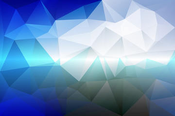 White blue shades low poly background