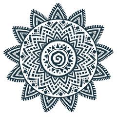 Ethnic style sun vector hand drawn dream catcher mandala
