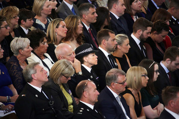 Police officers and family members of police officers attend a National Police Memorial Service being held at St Paul's Cathedral in London
