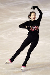 Haruka Imai of Japan practices during a training session before the Bompard Trophy event at Bercy in Paris
