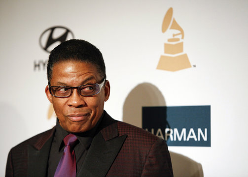 Musician Herbie Hancock arrives at the Clive Davis and Recording Academy Pre Grammy Gala and Salute to Industry Icons in Beverly Hills, California