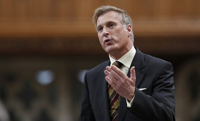 Canada's Minister of State for Small Business and Tourism Bernier speaks in the House of Commons on Parliament Hill in Ottawa