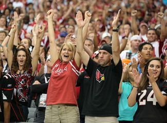 Arizona Cardinals fans cheer in the second half during their NFL football game against the Miami Dolphins in Phoenix