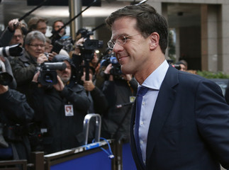 Netherlands' PM Rutte arrives at the EU council headquarters for an EU leaders summit discussing the EU's long-term budget in Brussels