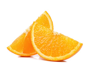 Slice of Orange isolated the white background
