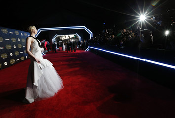 "Actress Gwendoline Christie arrives at the premiere of ""Star Wars: The Force Awakens"" in Hollywood"