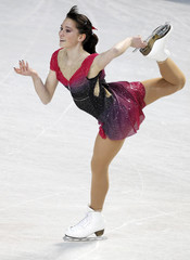 Sarah Hecken of Germany performs during the ladies short program at the European Figure Skating Championships in Tallinn