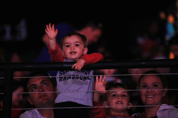 A child in the audience watches a show on the last day of the Ringling Bros. and Barnum & Bailey circus at Nassau Coliseum in Uniondale, New York