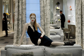 A mannequin is seen at Dior's new flagship store in London