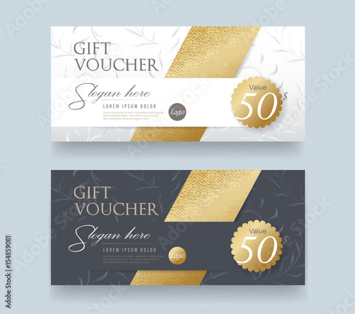 Gift Voucher Discount Template With Luxury Patternctor Template