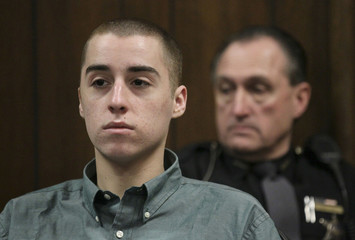 T. J. Lane listens during court proceedings in Geauga County Common Pleas Court in Chardon, Ohio