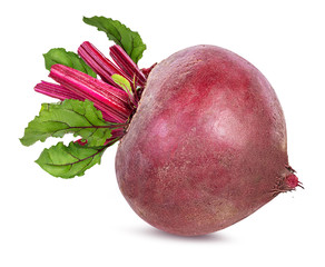 Fototapete - Beetroot with leaves isolated