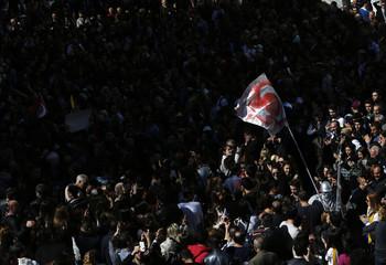 Protesters gather outside the Supreme Electoral Council (YSK) in Ankara