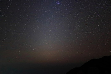 Beautiful scenery of zodiacal light star on night sky