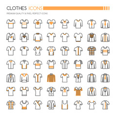 Clothes Icons, Thin Line and Pixel Perfect Icons
