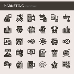 Marketing Elements  , Thin Line and Pixel Perfect Icons