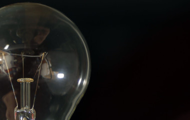An illustration picture shows an incandescent electric bulb in a private home in Bordeaux