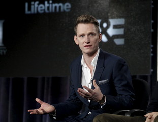 "Harper takes part in a panel discussion of A&E's network series ""War and Peace"" during the Television Critics Association Winter press tour in Pasadena, California"