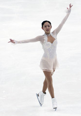 Miki Ando of Japan performs during the ladies short program competition at the ISU Four Continents Figure Skating Championships in Taipei