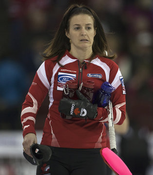 Canada skip Nedohin leaves after being defeated by Scotland at the World Women's Canadian Curling Championships in Lethbridge
