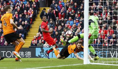 Wolverhampton Wanderers' Richard Stearman scores their first goal