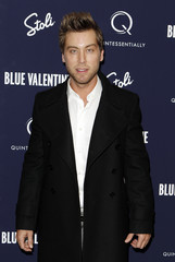 """Singer Lance Bass arrives for the premiere of """"Blue Valentine"""" in New York"""