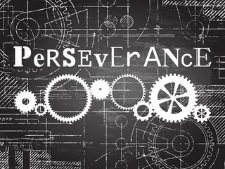 Perseverance Blackboard Tech Drawing