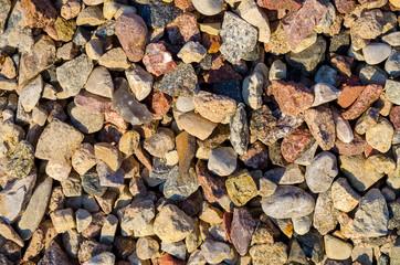background, set of small stones, crushed stone