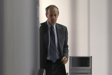 Gaubert, a former aide to France's President Sarkozy, leaves the court in Nanterre, near Paris