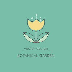 Botanical garden line icon