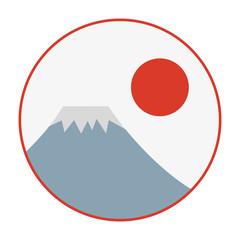 富士山 イラスト