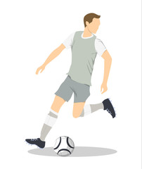 Isolated soccer player.