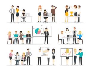 Office illustration set.